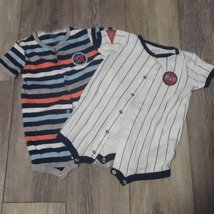 2 Carters Infant Boys Rompers